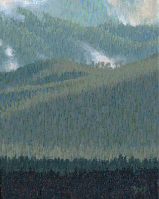 Artist: Mark Skullerud, Title: Ridge Crest - Study - click for larger image