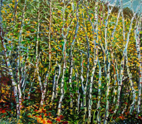 Artist: Pat Tolle, Title: Birches - click for larger image