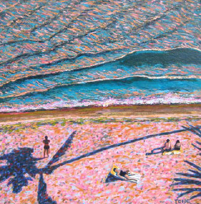 Artist: Pat Tolle, Title: Pink Beach - click for larger image
