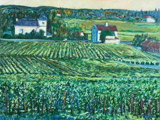 Artist: Pat Tolle, Title: St. Emillion Winery - click for larger image