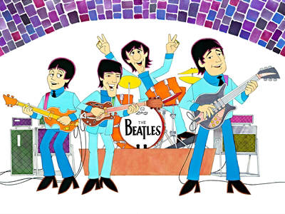 Artist: Ron Campbell, Title: The Beatles - click for larger image