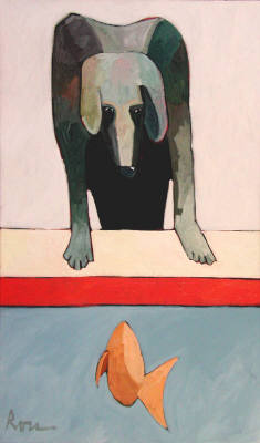 Artist: Thom Ross, Title: Dog and Goldfish - click for larger image