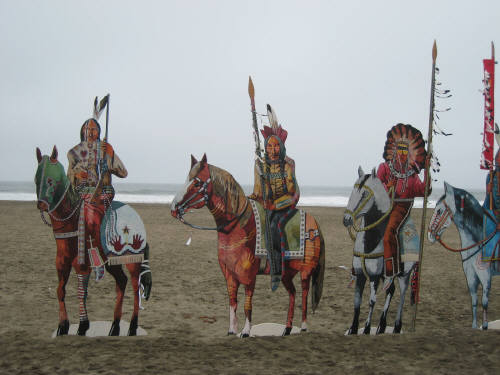 Artist: Gallery Event Photos, Title: Indians on the Beach - San Francisco - click for larger image