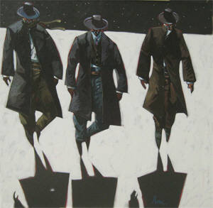 Artist: Thom Ross, Title: Mysterious Gunmen - click for larger image