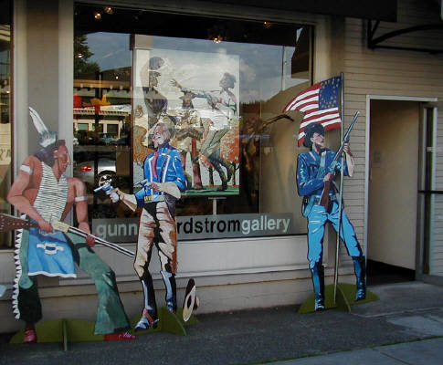 Artist: Gallery Event Photos, Title: The Little Bighorn Cut outs - click for larger image