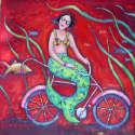 Debbie Tomassi - Mermaid on Bicycle