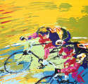 LeRoy Neiman - Indoor Cycling 1979