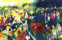LeRoy Neiman - Paddock at Chantilly 1992