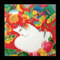Peter  Max - Flower Blossom Lady