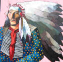 Thom Ross - Indian with Pheasant Feather